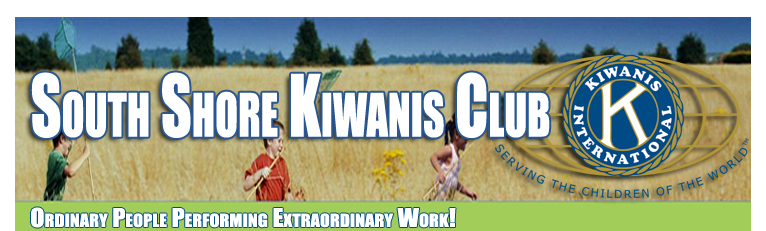 Welcome to South Shore Kiwanis Club Online